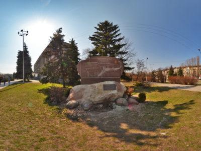 Единственный в Украине памятник с картой города в Никополе (375 лет)
