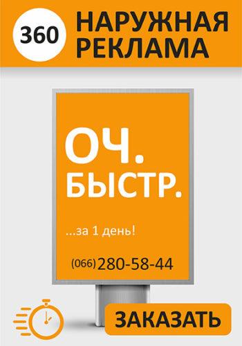 Наружная реклама Никополь